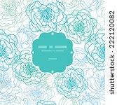 vector blue line art flowers... | Shutterstock .eps vector #222120082