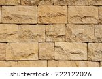 Stone Wall Closeup In Sunny Day