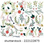 vector collection of vintage... | Shutterstock .eps vector #222122875