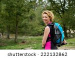 portrait of a middle aged woman ... | Shutterstock . vector #222132862