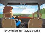 man driving a car through a... | Shutterstock .eps vector #222134365