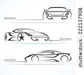 set of modern sports car... | Shutterstock .eps vector #222137908