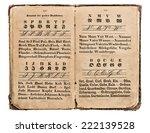 antique german alphabet book.... | Shutterstock . vector #222139528
