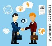 happy business man make...   Shutterstock .eps vector #222145156