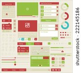 set of flat web elements  icons ... | Shutterstock .eps vector #222145186