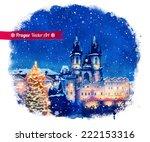Christmas Prague. Vector...