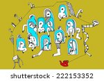 the sketched colored... | Shutterstock . vector #222153352