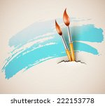 brushes for drawing from torn... | Shutterstock . vector #222153778