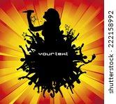 singing girl | Shutterstock .eps vector #222158992