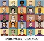 twenty five men of various age... | Shutterstock .eps vector #22216027