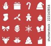 christmas icons flat style | Shutterstock .eps vector #222163816