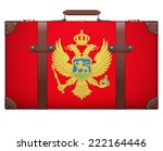classic luggage suitcase with... | Shutterstock . vector #222164446