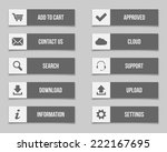 flat grey buttons set. vector... | Shutterstock . vector #222167695