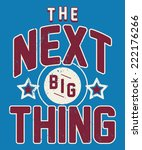 the next big thing kids sporty... | Shutterstock .eps vector #222176266