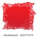 christmas background with trees | Shutterstock . vector #222177172