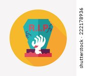 grave flat icon with long... | Shutterstock .eps vector #222178936