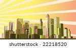 abstract modern city | Shutterstock .eps vector #22218520