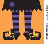 Witch Legs With Orange Stripes...