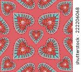 vector colorful heart seamless... | Shutterstock .eps vector #222206068
