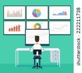 business people analytic... | Shutterstock .eps vector #222211738