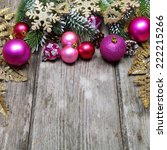 christmas decoration on a... | Shutterstock . vector #222215266