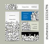 business cards design  winter... | Shutterstock .eps vector #222216796