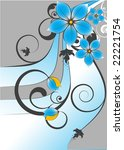 floral abstraction. | Shutterstock .eps vector #22221754