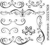 calligraphic elements   black... | Shutterstock . vector #222217828