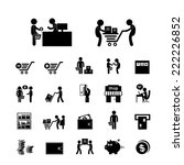 shopping and delivery icon set  | Shutterstock .eps vector #222226852
