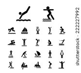 water sport vector icon set  | Shutterstock .eps vector #222227992