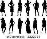 set of twelve vector fashion... | Shutterstock .eps vector #2222319