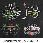 christmas set   labels  emblems ...   Shutterstock .eps vector #222239215