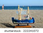 Sail Ship Toy Model In The...
