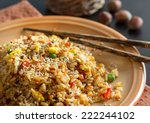 fried rice with vegetables and... | Shutterstock . vector #222244102
