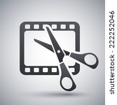 vector video editing icon | Shutterstock .eps vector #222252046