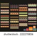 set of decorative christmas... | Shutterstock .eps vector #222270856
