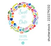 vector watercolor colorful... | Shutterstock .eps vector #222279232