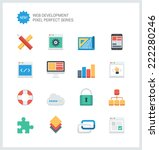 pixel perfect flat icons set of ... | Shutterstock .eps vector #222280246
