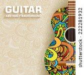 Hand Drawn Art Classic Guitar...