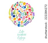 Vector Watercolor Circle Desig...