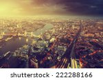 london aerial view with  tower... | Shutterstock . vector #222288166
