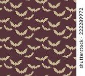halloween seamless pattern with ...   Shutterstock .eps vector #222289972