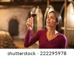 professional winemaker female... | Shutterstock . vector #222295978