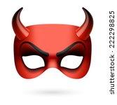 devil mask. vector illustration. | Shutterstock .eps vector #222298825