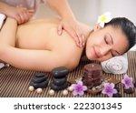 beautiful woman having a... | Shutterstock . vector #222301345