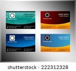 business cards template element | Shutterstock .eps vector #222312328