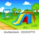 play park for children | Shutterstock .eps vector #222315772