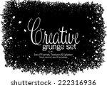 design template.abstract grunge ... | Shutterstock .eps vector #222316936