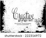 design template.abstract grunge ... | Shutterstock .eps vector #222316972