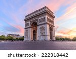 arc de triomphe paris city at... | Shutterstock . vector #222318442